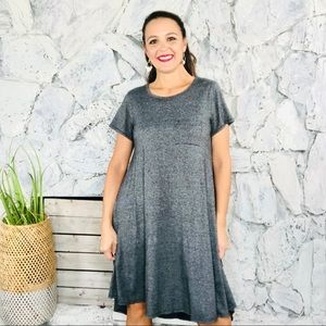 LuLaRoe Carly Dress Stretch Short Sleeve Pockets S